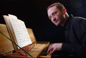 Roman Chlada playing the Clavichord