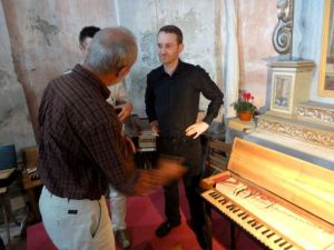 Am Clavichord-Symposium in Magnano, Italien
